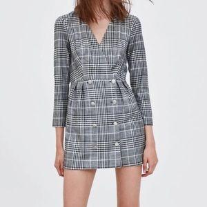 Zara trf Plaid Mini Dress